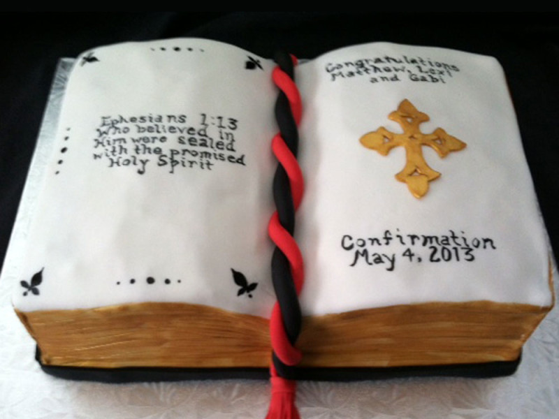 Confirmation Open Bible Cake